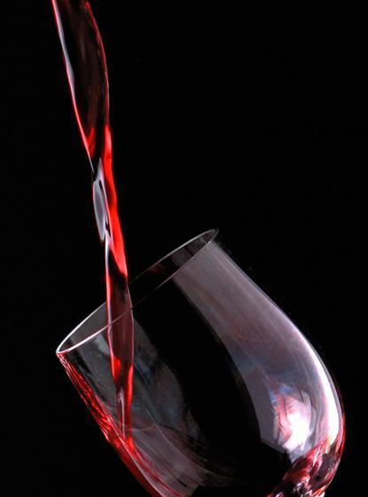 单体结构素描红酒瓶