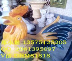 雕塑雄鸡玻璃钢