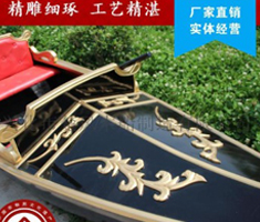 酒店景观装饰摄影木船